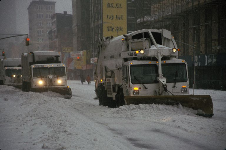 Snow Plows In Manhattan