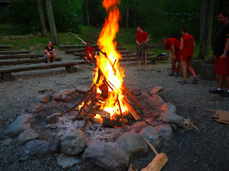 Camp Fire with Stones