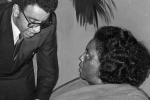 Fannie Lou Hamer with Congressional Aide Malcolm Diggs, 1965
