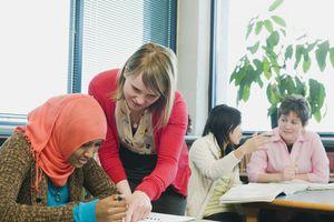 Teacher and ESL class
