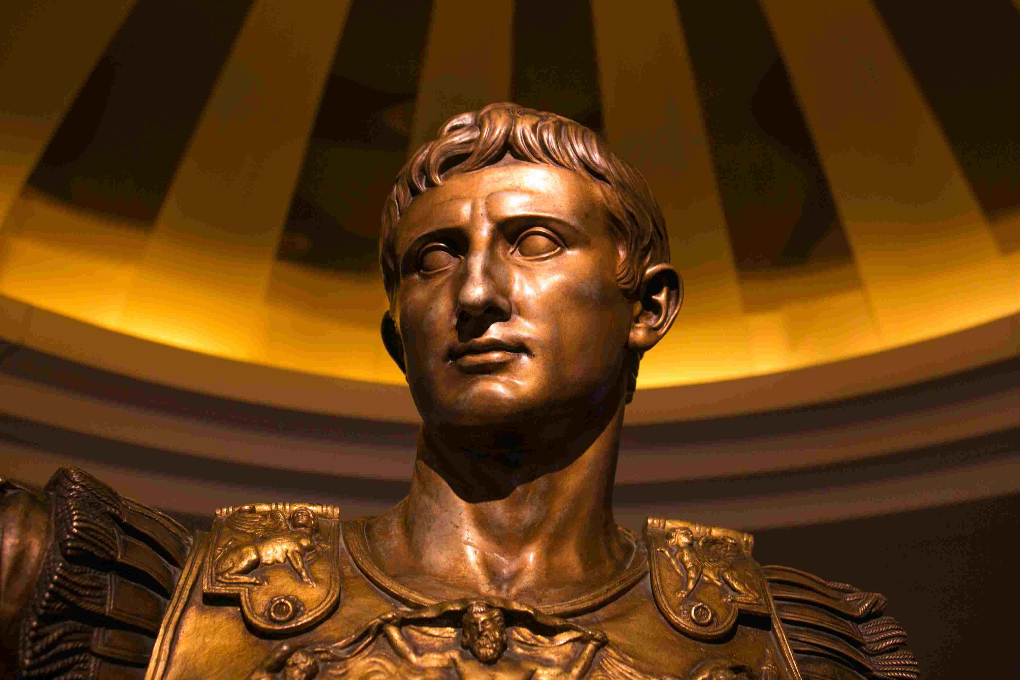 Bronze bust of Julius Caesar