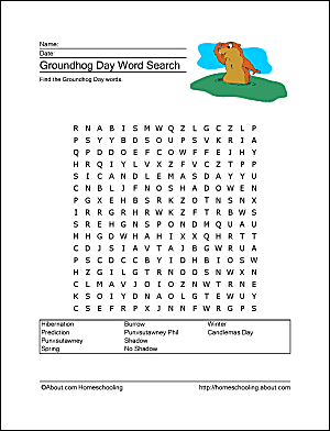 Groundhog day wordsearch crossword puzzle and more groundhog day wordsearch ibookread Read Online