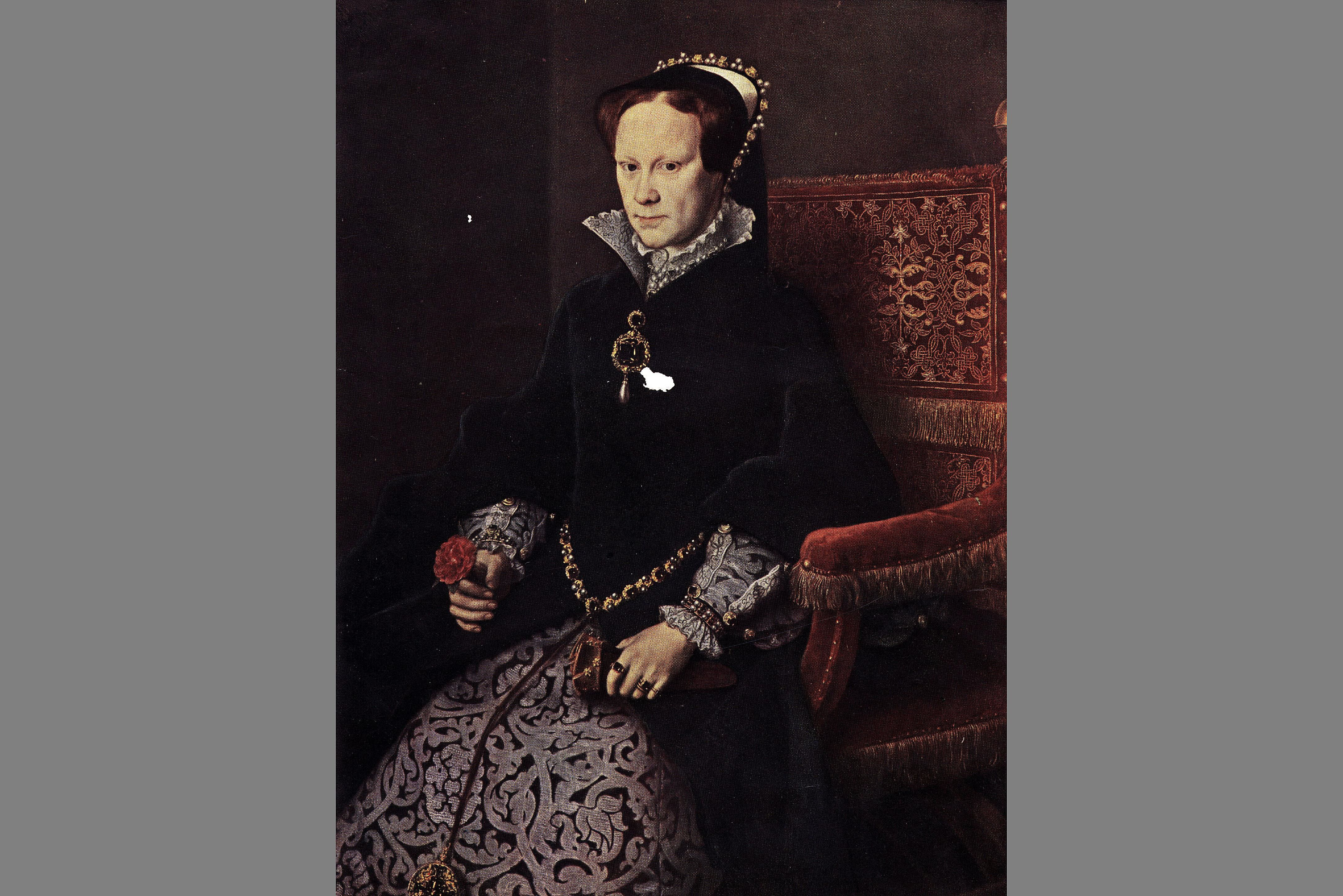 Mary I of England, from a portrait by Anthonio Mor, about 1553
