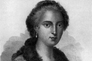 Black and white portrait of Maria Agnesi.