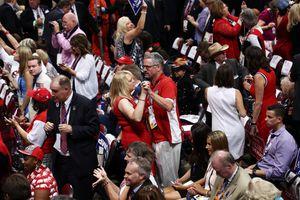 Dancing at Donald Trump's nominating convention