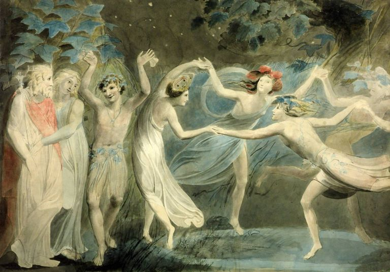 Oberon, Titania and Puck with Fairies Dancing
