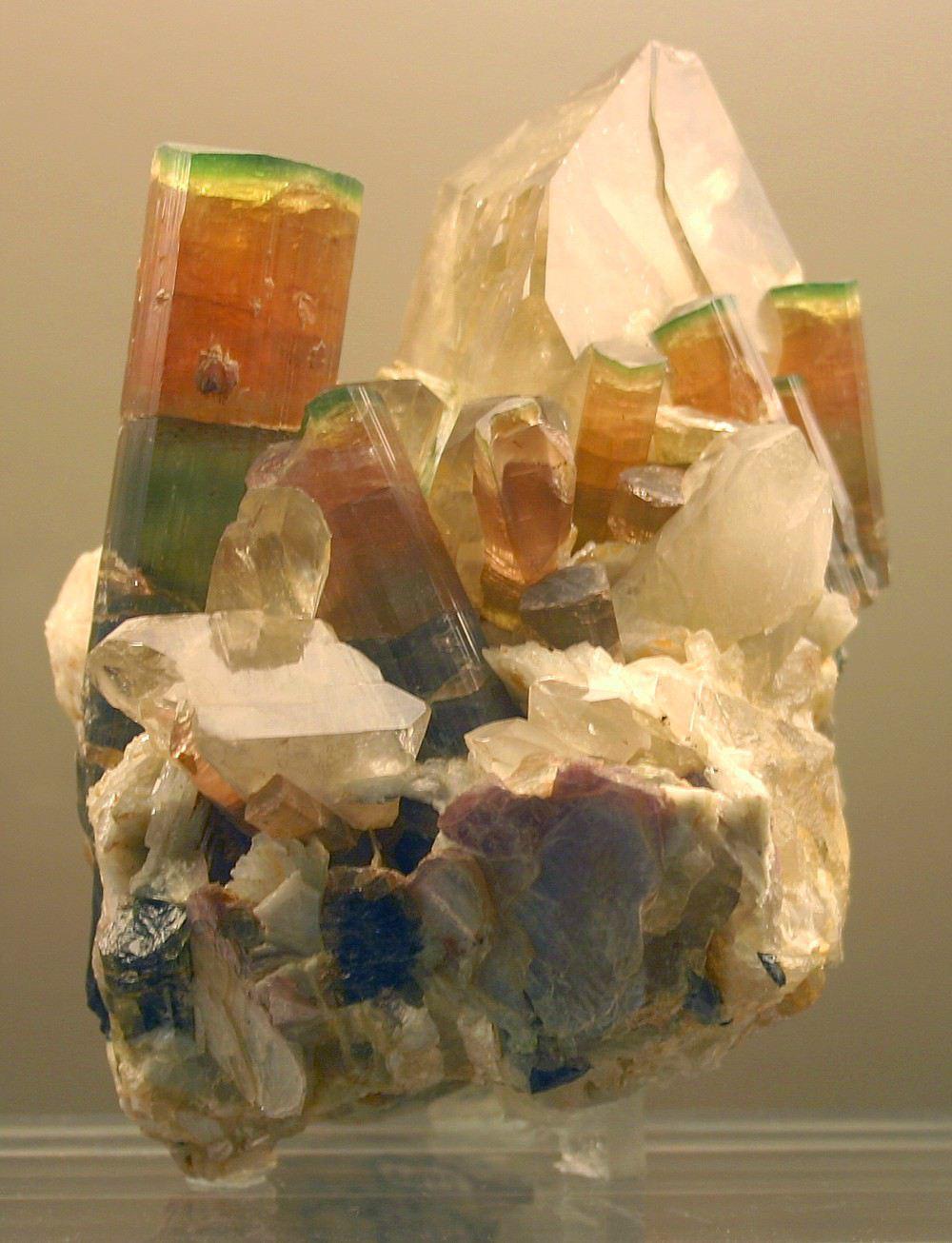 Tourmaline Crystals with Quartz