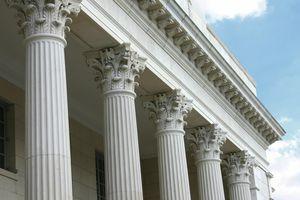 Detail of tops of corinthean columns