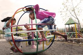 Children in a Mexican playground.