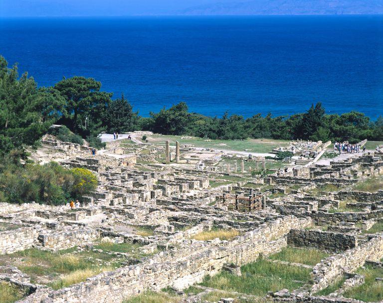 Kameiros ancient city on Rhodes, Greece