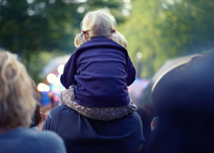 child at a festival