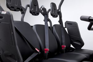 Every UTV comes from the factory with some type of seat-belt or harness - remember to buckle up!