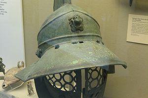 Bronze Visor From the Helmet of a Murmillo. Roman 1st-2nd Century A.D.