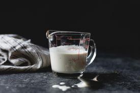 Buttermilk in a measuring cup