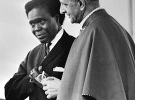 Milton Obote and Pope Paul VI