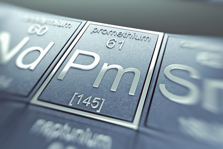 Promethium is a radioactive rare earth element