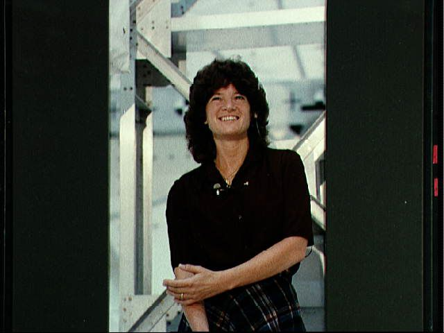 Astronaut Sally K. Ride responds to interview question - 05.25.1983