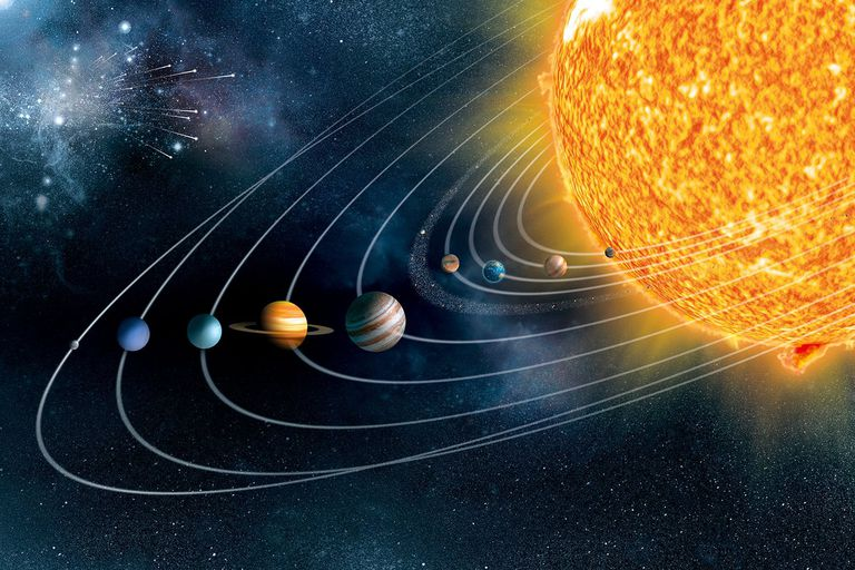 Illustration of the solar system