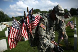 'Flags In' Ceremony held at Arlington National ahead of Memorial Day
