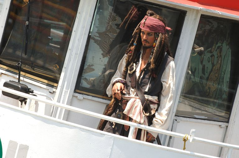 Johnny Depp Captain Jack Sparrow Wax Figure Cruises New York Harbor On The Circle Line - July 7, 2006