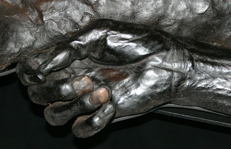Hand of the Grauballe Man Bog Body, Mosegaard-Museum, Denmark