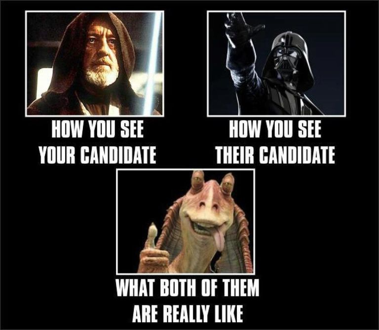 Star Wars comparison of candidates