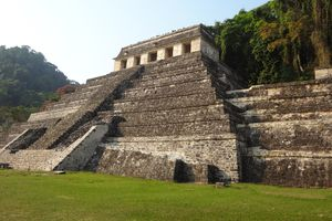 Maya Temple of the Inscriptions at Palenque,