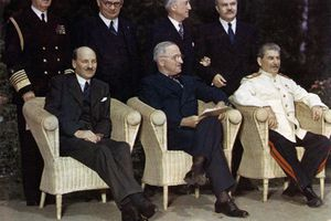 Attlee, Truman, and Stalin at the Potsdam Conference