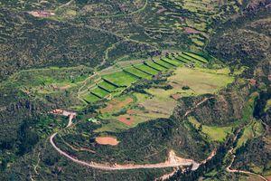 Aerial Photograph of Tipón Inca Terraces, Peru