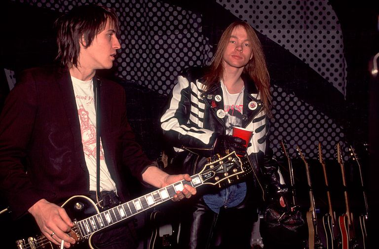Izzy Stradlin and Axl Rose of Guns and Roses