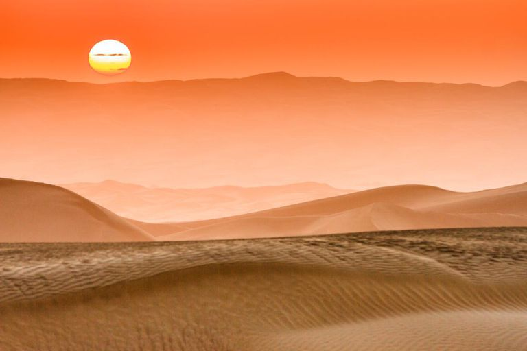 Sunrise In Taklamakan Desert, Xinjiang China