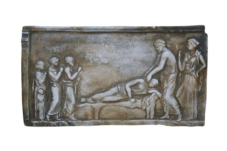 ancient scene of Hippocrates