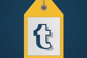 Tumbler logo on price tag