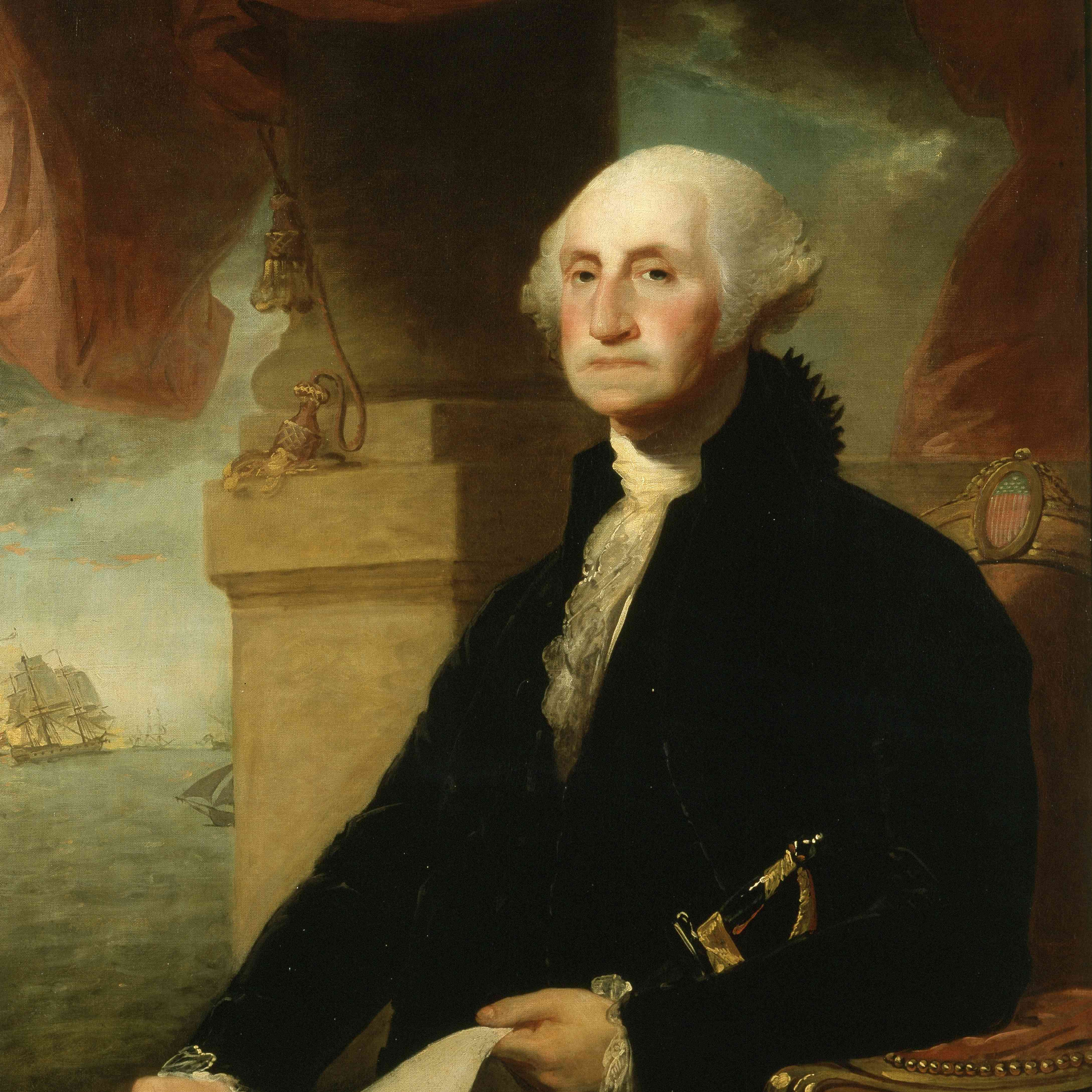 President George Washington, painted in 1794.