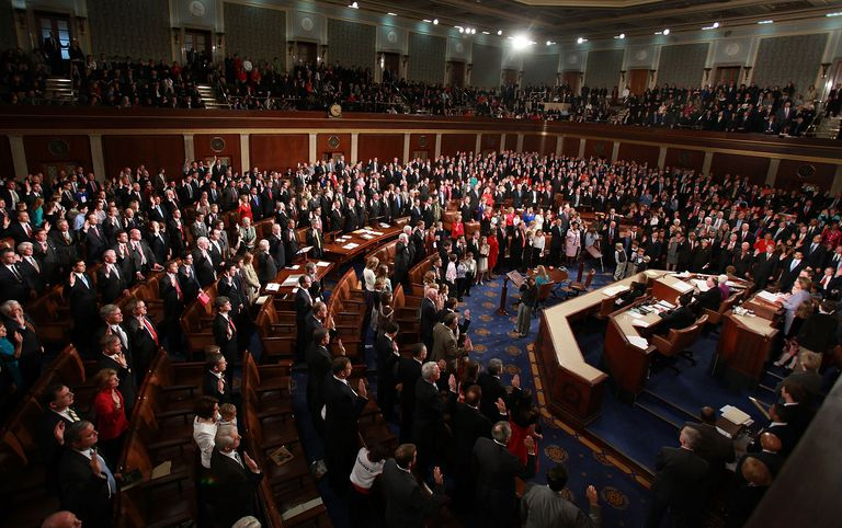 Speaker of the House swearing in new members of the US Congress