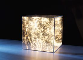 light contained in glass box