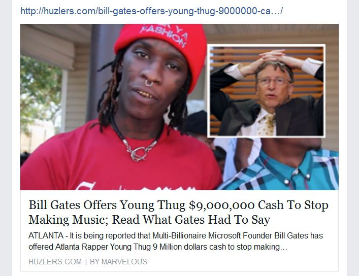 Bill Gates Offers Young Thug $9,000,000 Cash to Stop Making Music