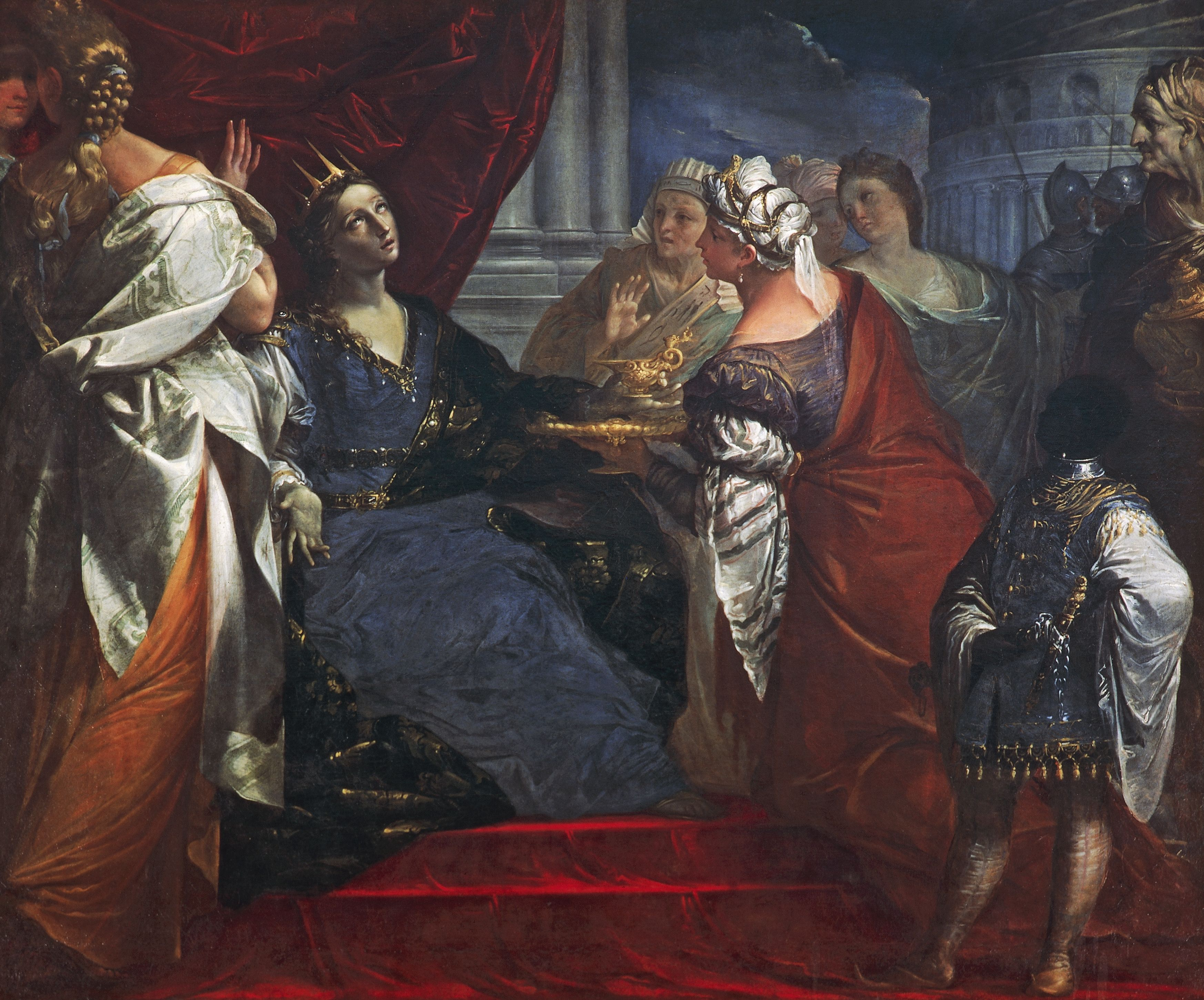 Queen Artemisia drinking ashes of Mausolus, by Giovan Gioseffo del Sole (1654-1719), Oil on canvas