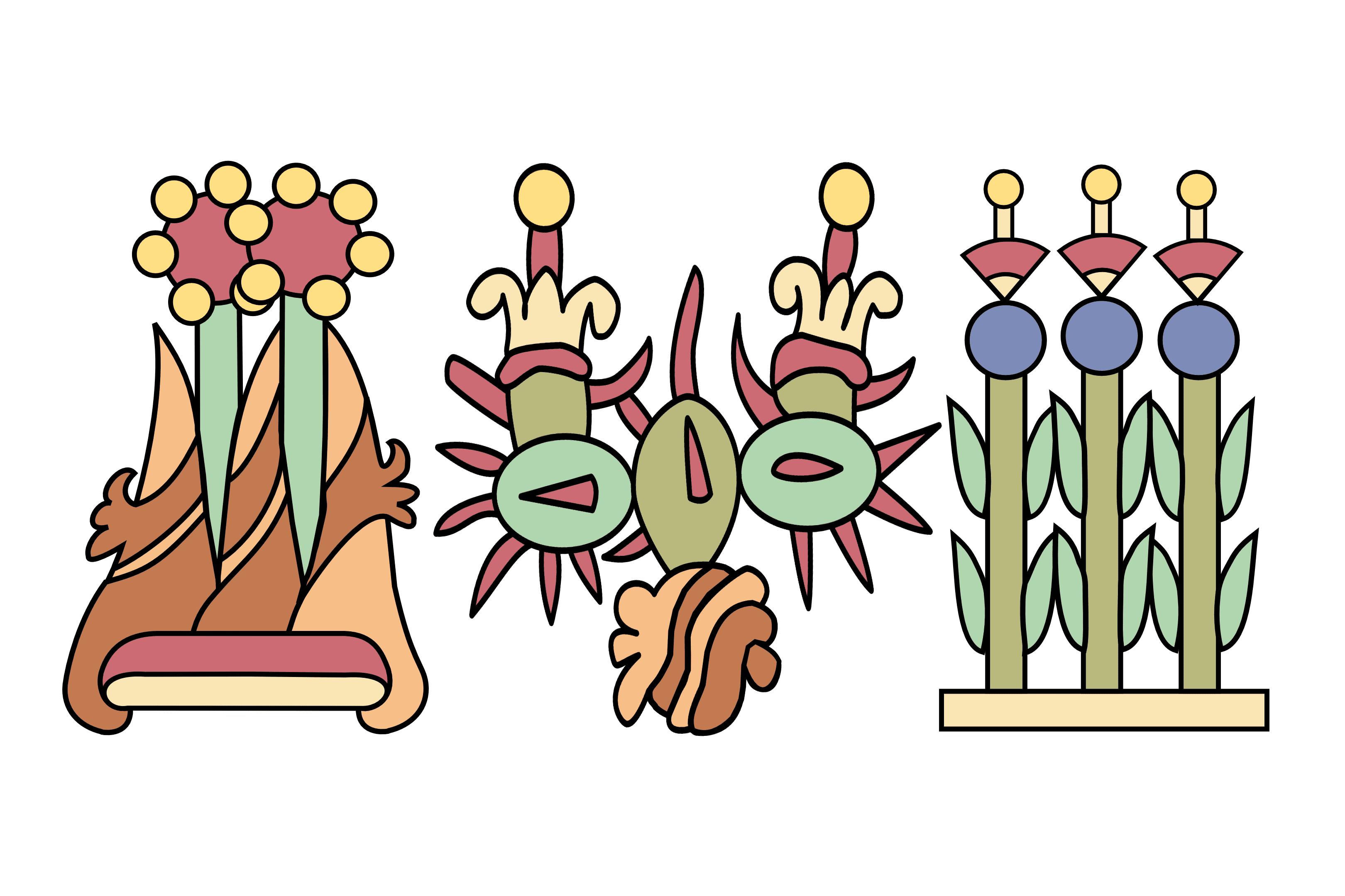 Aztec Glyphs for the Triple Alliance