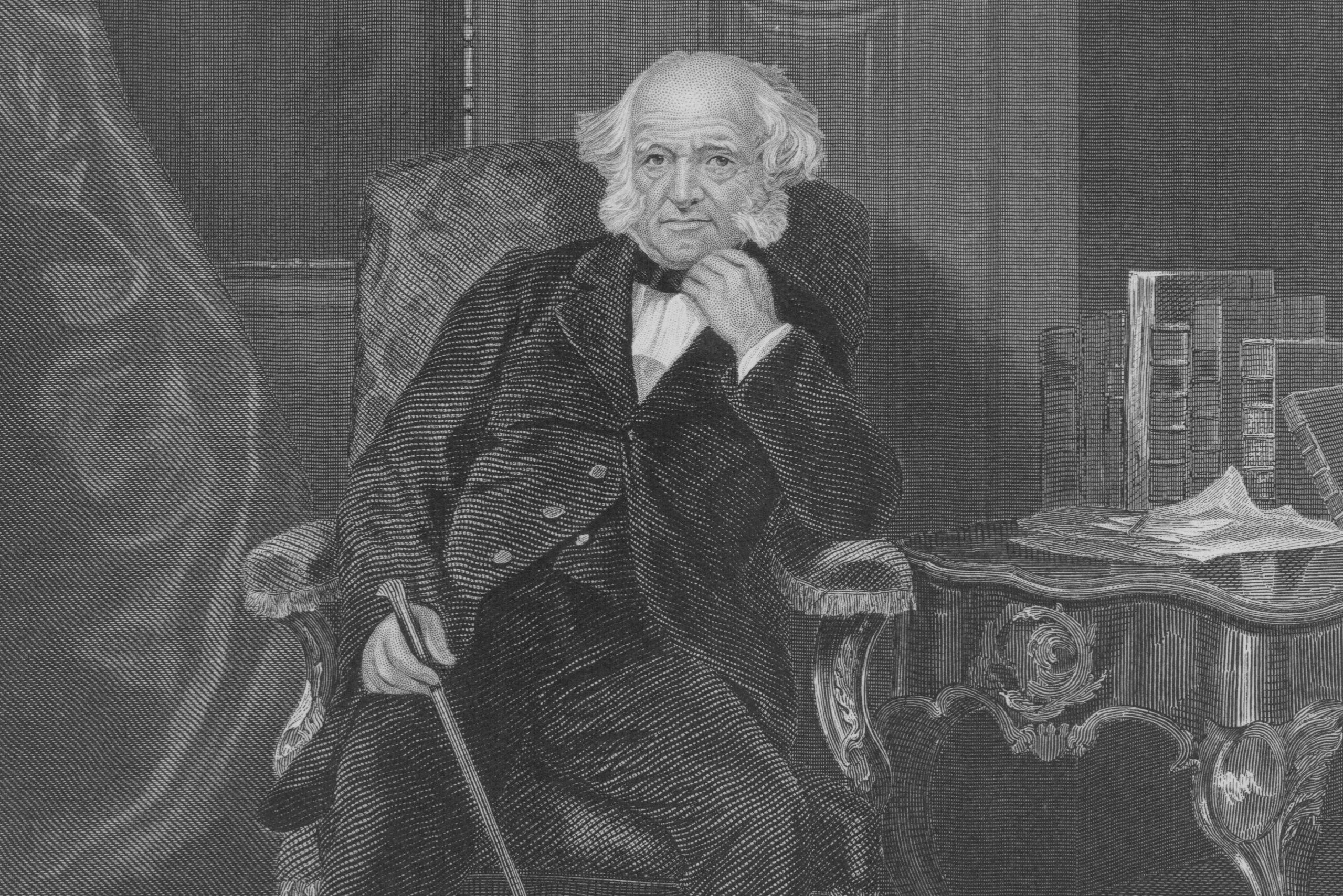 Engraved portrait of elderly Martin Van Buren