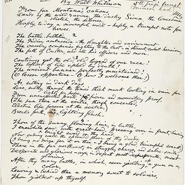 Whitman's Custer Death Sonnet