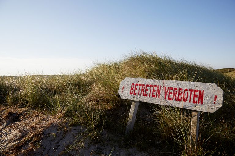A prohibited beach in Germany