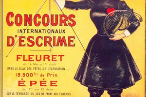 Poster advertising the 1900 Olympic Games in Paris.