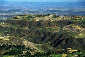 Ethiopia, Rift Valley, aerial view