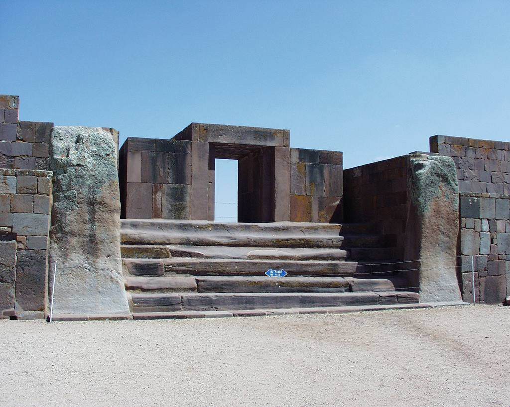 Tiwanaku (Bolivia) Entrance to Kalasaya Compound
