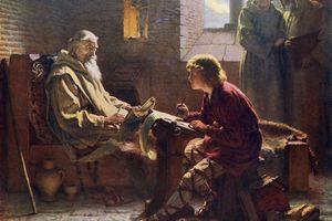 'The Venerable Bede Translating the Last Chapter of St John', 1926. Artist: James Doyle Penrose