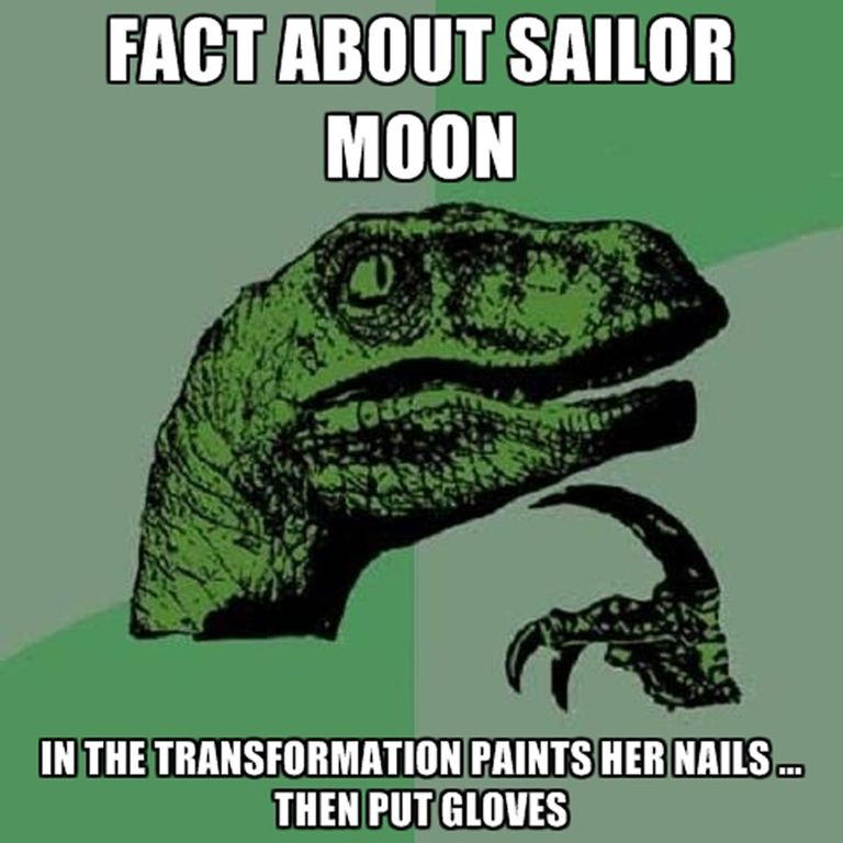 fact about sailor moon sailor moon meme