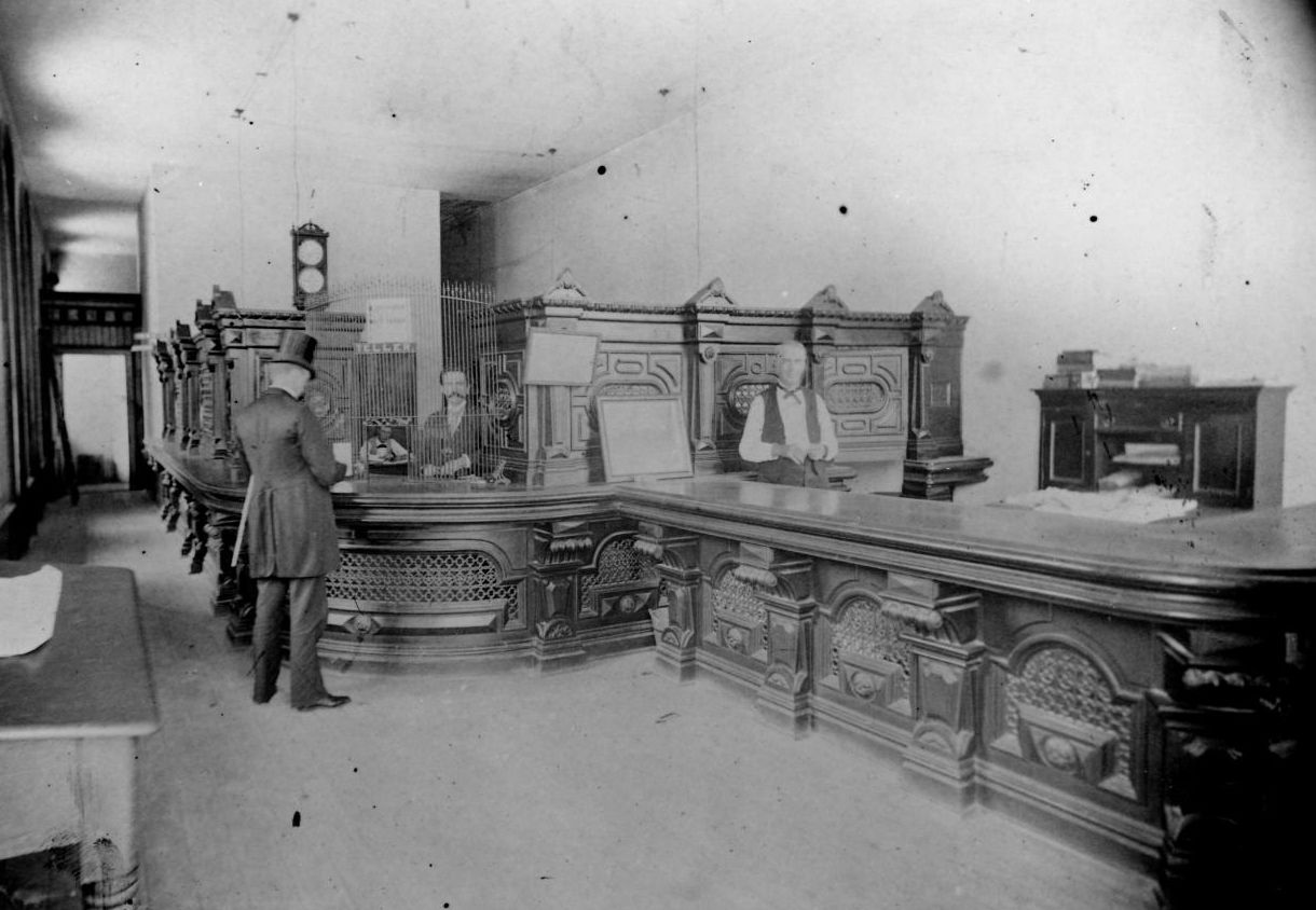 O. Henry as a bank clerk in First National Bank in Austin, Texas