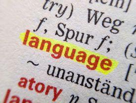 Full Frame Shot Of German Dictionary