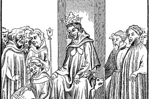 King of the Franks dictates the Salic Law